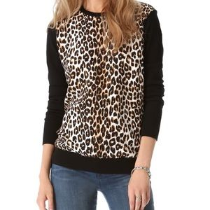 Equipment Roland Leopard Print Sweater Size S